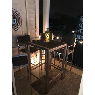 Cape Coral Outdoor 5-piece Aluminum Square Bar Set by Christopher Knight Home