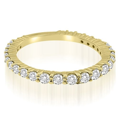 0.90 cttw. 14K Yellow Gold Classic Round Cut Diamond Wedding Ring