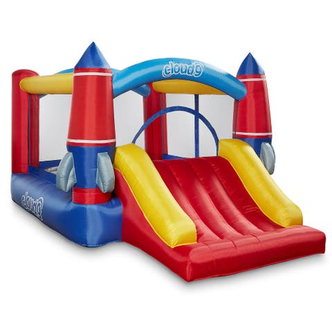 Rocket Theme Bounce House with Slide and Blower by Cloud 9