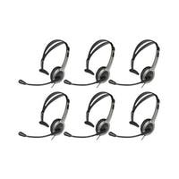 Panasonic KX-TCA430 (6 Pack) Telephone Headset w/ Noise Cancelation Mic Volume Control