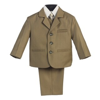 Little Boys Olive Wedding Easter 5 Pcs Special Occasion Suit 2-7
