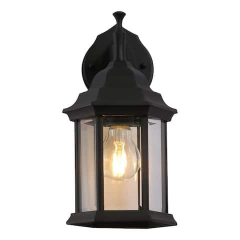 Cedar Hill 12-in Black Outdoor Wall Lantern