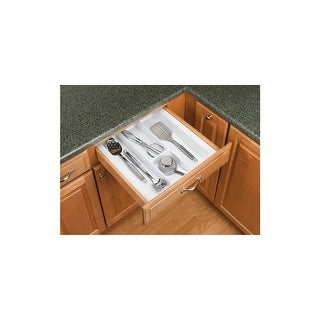 Rev-A-Shelf UT-18-52 UT Series 21-7/8 Inch Wide Trimmable Cutlery Tray Insert