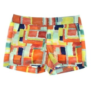 Tommy Hilfiger Womens Dress Shorts Printed Flat Front - 14