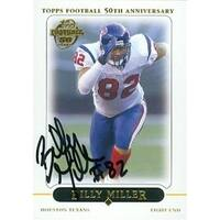 Billy Miller autographed Football Card (Houston Texans) 2005 Topps