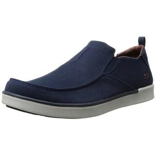 Skechers USA Men's Boyar Lented Slip-on Loafer, Navy, 11.5 M US