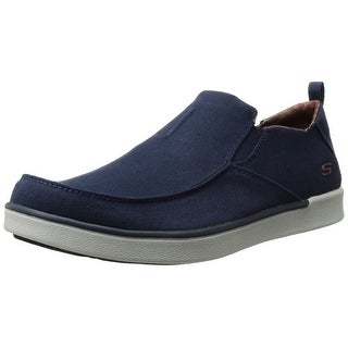 Skechers USA Men's Boyar Lented Slip-on Loafer, Navy, 8 M US
