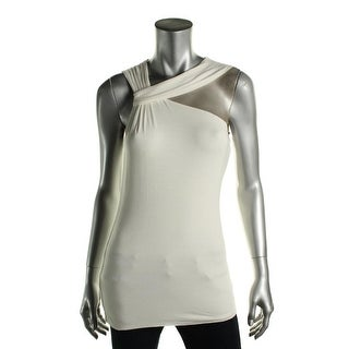 Bailey 44 Womens Ares Mesh Inset Sleeveless Pullover Top - M