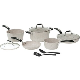THE ROCK by Starfrit 060707-001-0000 THE ROCK(TM) by Starfrit 10-Piece Cookware Set with Bakelite(R) Handles