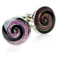 The Swirl In Purple and Black Cufflinks