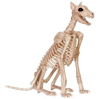 """Seasons Z18386 Halloween Large Skeleton Dog, White, 29"""" H"""