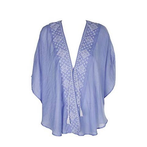 Steve Madden Women's Venetian Breeze Embroidered Kimono ( One Size)