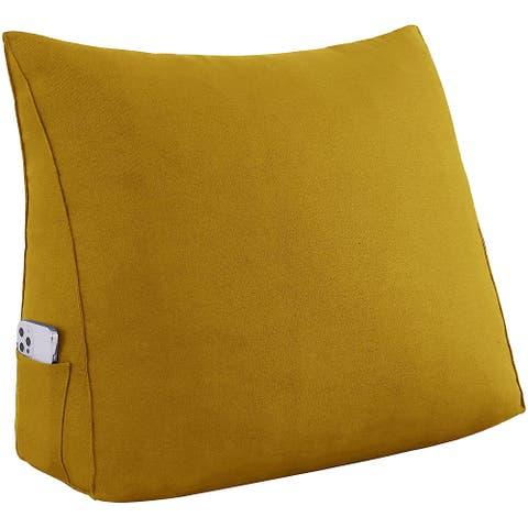 WOWMAX Reading Pillow Wedge Bed Rest Sofa Chair Back Uplift Cushion