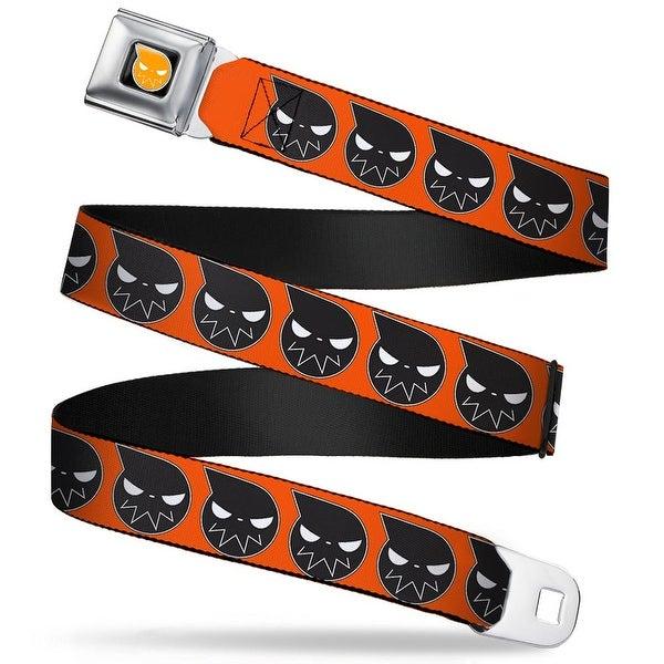Soul Eater Logo Full Color Black Orange Soul Eater Logo Close Up Orange Seatbelt Belt