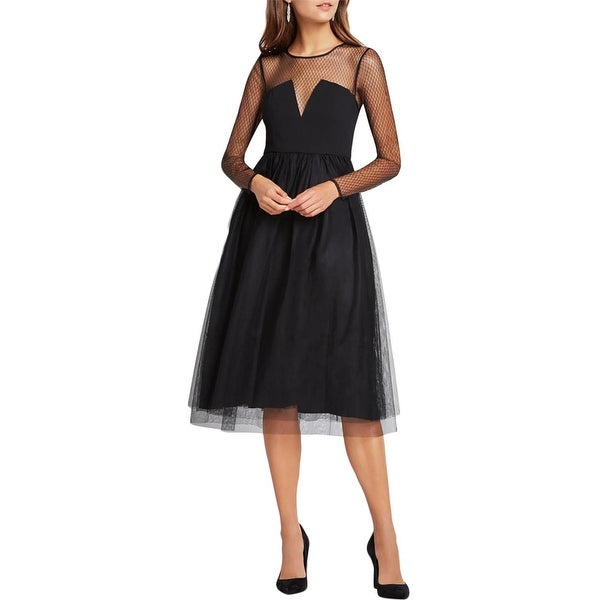ebe9bf287c0d2 BCBGeneration Womens Semi-Formal Dress Mesh Tulle Skirt