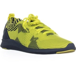 ID35 Mattyy Lace Up Low Top Sneakers, Navy/Citron - 7 us