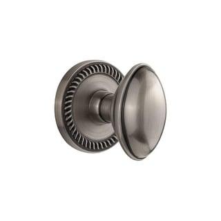 "Grandeur NEWEDN_PRV_238  Newport Solid Brass Rose Privacy Door Knob Set with Eden Prairie Knob and 2-3/8"" Backset"