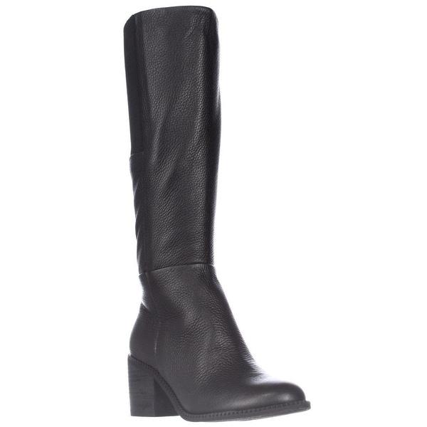 Splendid Kassie Block-Heel Knee High Boots, Black
