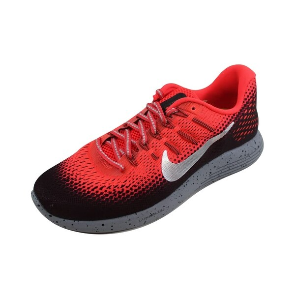 Nike Men  x27 s Lunarglide 8 Shield Bright Crimson Metallic Silver 849568- 53b6448fd533