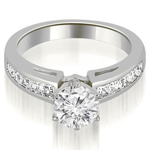 1.25 CT.TW Channel Set Princess Cut Diamond Engagement Ring - White H-I