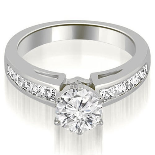 1.45 cttw. 14K White Gold Channel Set Princess Cut Diamond Engagement Ring