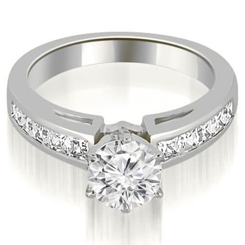 1.70 cttw. 14K White Gold Channel Set Princess Cut Diamond Engagement Ring,HI,SI1-2