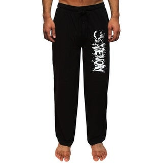 Marvel Venom Men's Splatter Character And Script Logo Loungewear Pajama Pants