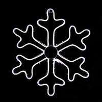 "18"" Neon Style LED Lighted White Snowflake Christmas Window Silhouette Decoration"