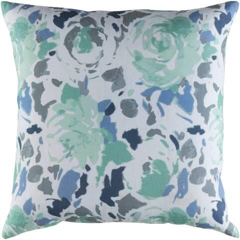 Decorative Sain Blue 20-inch Throw Pillow Cover