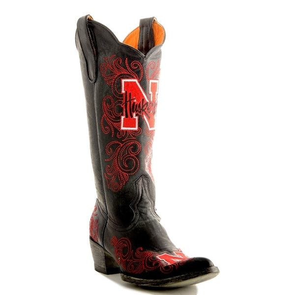 Gameday Boots Womens College Nebraska Corn Huskers Black
