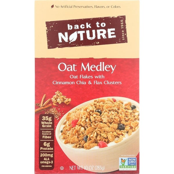 Back To Nature Cereal - Oak Medley - with Cinnamon Clusters - 10 oz - case of 6