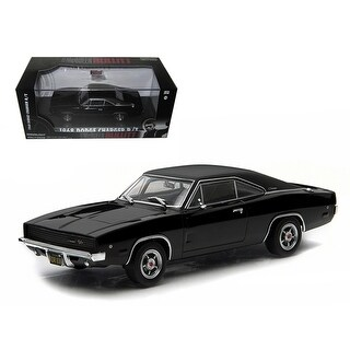 1968 Dodge Charger Black R/T Steve McQueen Bullitt Movie (1968) 1/43 Diecast Model Car by Greenlight