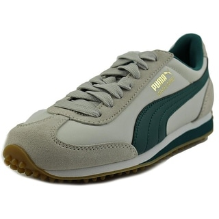 Puma Whirlwind Classic Youth Round Toe Leather Gray Sneakers