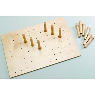 Rev-A-Shelf 4DPS-3021 4DPS Series Medium Trimmable Drawer Peg Board with 12 Pegs - Natural Wood
