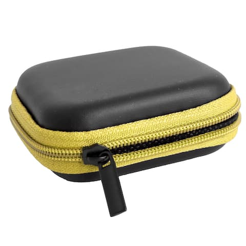 Cellphone Earphone Earbuds Square Carrying Cases Storage Bags Pouch Yellow