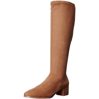 Chinese Laundry Womens Fixer  Knee-High Boots Faux Suede Block Heel