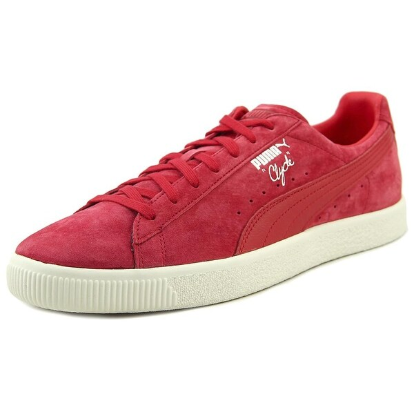 Puma Clyde Men Round Toe Suede Red Sneakers