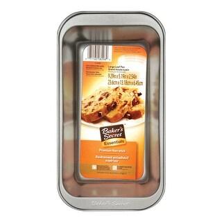 "Baker's Secret 1114435 Non Stick Large Loaf Pan, 9"" x 5"" x 2.75"""