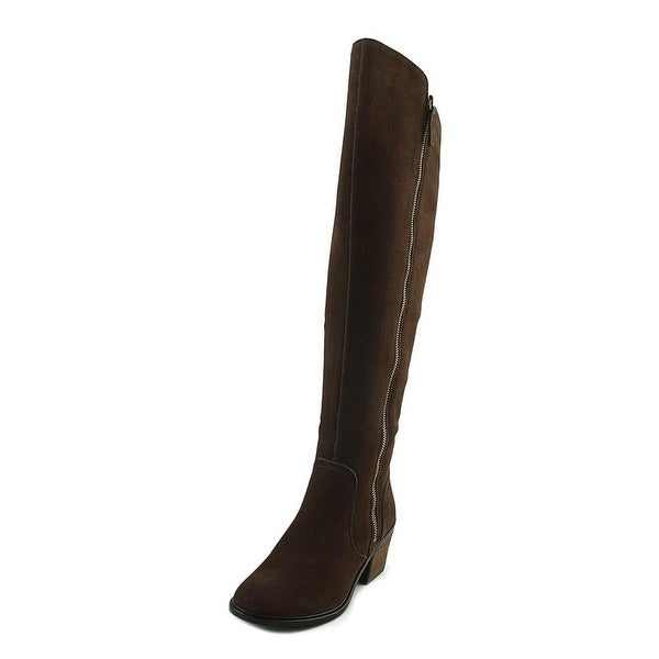 Crown Vintage Uptown Women Round Toe Suede Brown Knee High Boot