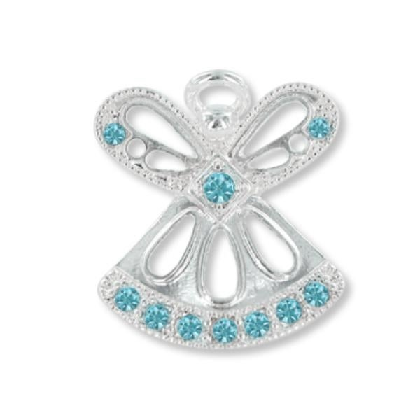 Ddi Wings And Wishes March Birthstone Angel (pack Of 28)