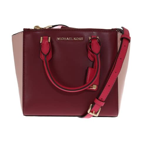 Michael Kors Red CAROLYN Leather Tote Women's Bag - One Size