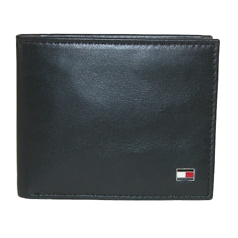 7b43a8f7f16 Tommy Hilfiger Men s Leather Slim Billfold Wallet - one size