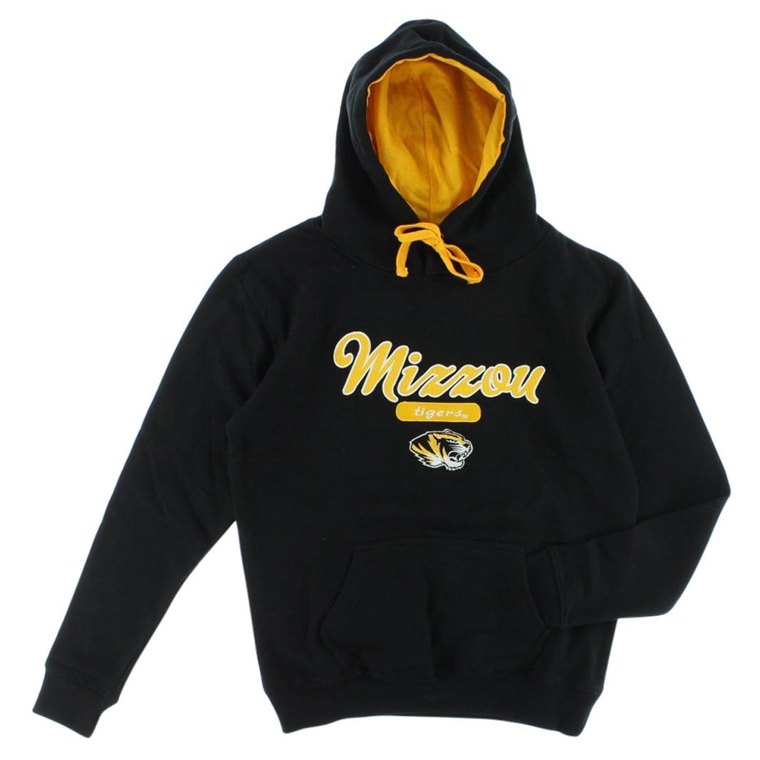 Cover One Womens Missouri Tigers Cotton Full Zip Hoodie Black