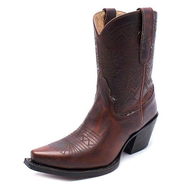 Tony Lama VF6025 Women Square Toe Leather Brown Western Boot