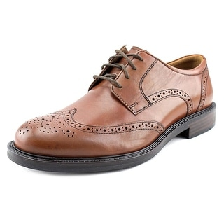 Johnston & Murphy Tabor Wingtip Men  Wingtip Toe Leather Tan Oxford