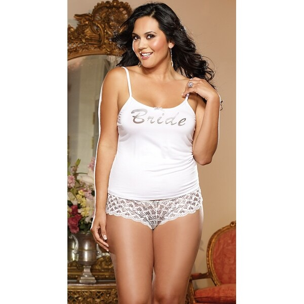 ea41073e2a8 Shop Plus Size First Kiss Bridal Tank And Panty - White - Free Shipping On  Orders Over  45 - Overstock - 18058559