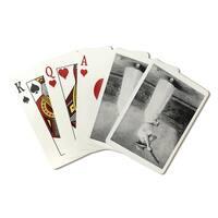 Trapshooting Woman with Shotgun - Vintage Photo (Poker Playing Cards Deck)