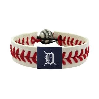 Detroit Tigers Classic MLB Gamewear Leather Baseball Bracelet