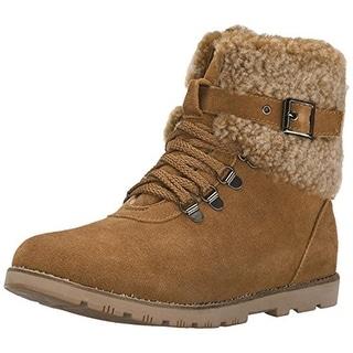 Dije California Womens Mammoth Hiking Boots Suede Sheepskin Lined - 5 medium (b,m)