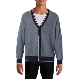 Tommy Hilfiger Mens KNit Heathered Cardigan Sweater - XL